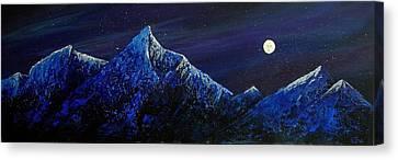 Moonlit Canvas Print by Edith Peterson-Watson