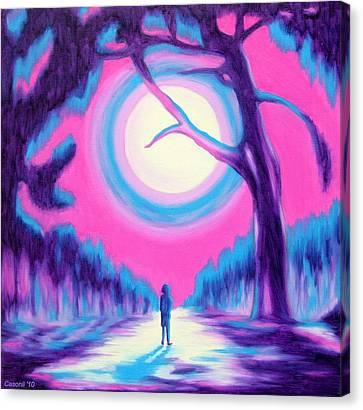 Moonlit Forest Canvas Print by Casoni Ibolya