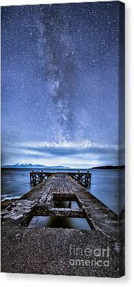 Moonlit Milky Way Canvas Print