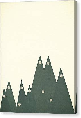 Moonlit Peaks Canvas Print by Cassia Beck
