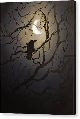 Moonlit Perch Canvas Print