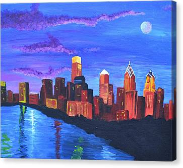 Moonlit Philly Canvas Print