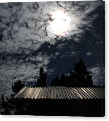 Moonlit Roof Canvas Print by Ron McMath