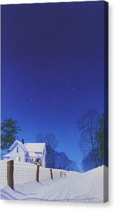 Moonlit Snowfall Canvas Print