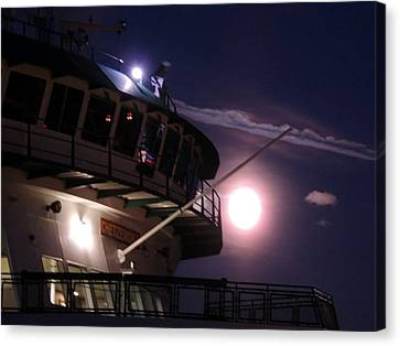 Moonlite Ferry Bridge Canvas Print