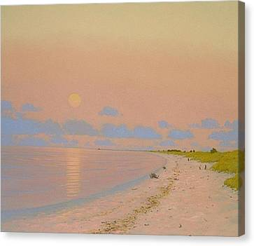 Moonrise Lake Superior Canvas Print