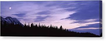 Moonrise Mt Moran Grand Teton National Canvas Print