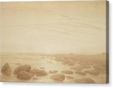 Moonrise On The Sea Canvas Print by Caspar David Friedrich