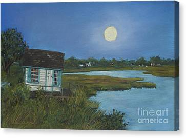 Moonrise Orient Point Canvas Print by Susan Herbst