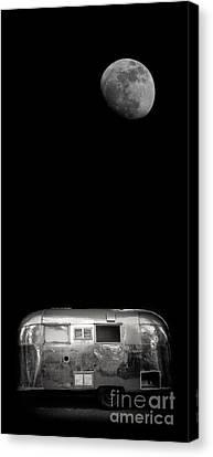 Moonrise Over Airstream Phone Case Canvas Print