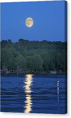 Reflections Of Luna Canvas Print by Richard Engelbrecht