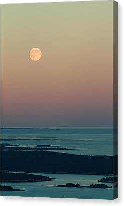 Moonrise Over Schoodic Point Canvas Print