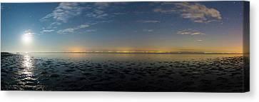 Moonrise Over The Caspian Sea Canvas Print