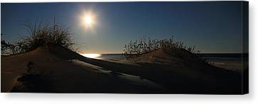 Moonrise Over The Dunes Canvas Print by JC Findley