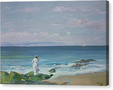 Seaweed Canvas Print - Moonrise by Sir John Lavery
