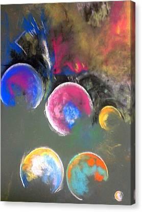 Moons Of Jupiter Canvas Print by Thomas Petrizzo