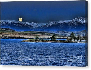 Moonset Over Cooney Canvas Print