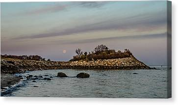 Moonset Over The Nob Canvas Print