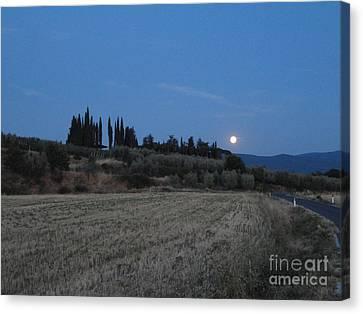 Moonshine In Arezzo Canvas Print