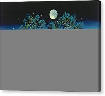 Moonshine Sonata, 2006 Oil On Canvas Canvas Print by Magdolna Ban