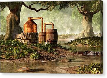 Moonshine Still 1 Canvas Print by Daniel Eskridge