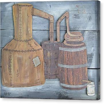Moonshine Still Canvas Print by Eric Cunningham