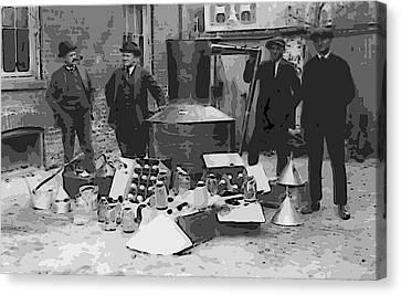 Fed Canvas Print - Moonshine Still Prohibition 1922 by Daniel Hagerman