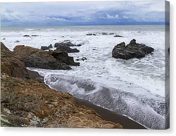 Moonstone Beach Surf 3 Canvas Print
