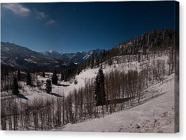 Canvas Print featuring the photograph Moonstruck  by Eric Rundle