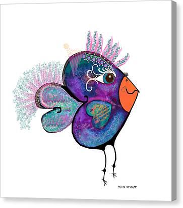 Moonworld Series - Love Bird Canvas Print