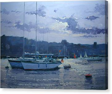 Moored Yachts Canvas Print by Jennifer Wright