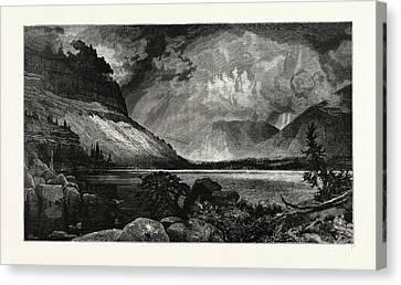 Thomas Moran Canvas Print - Moores Lake, Utah.  Thomas Moran February 12 by American School