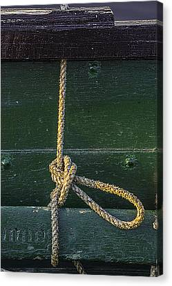 Canvas Print featuring the photograph Mooring Hitch by Marty Saccone