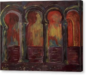 Moorish Arches II Canvas Print by Oscar Penalber