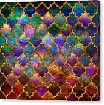 Moorish Mosaic Canvas Print by Lilia D