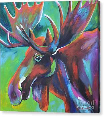 Moose Canvas Print by Cher Devereaux