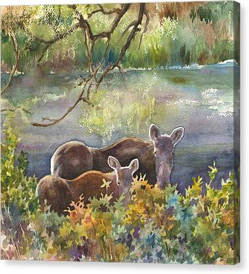 Moose In The Morning Canvas Print