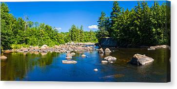 Moose River In The Adirondack Canvas Print by Panoramic Images