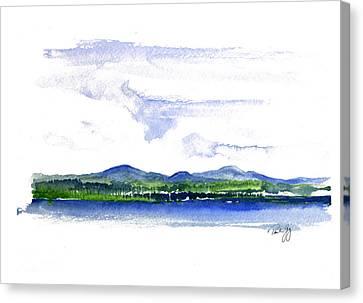 Moosehead Lake Canvas Print by Paul Gaj