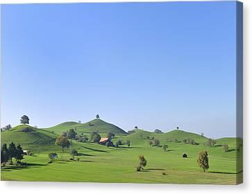 Moraine Hill Landscape Switzerland Canvas Print by Thomas Marent