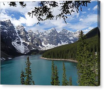 Moraine Lake Alberta Canada Canvas Print