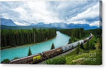 Morant's Curve Bow Valley Banff National Park Canada Canvas Print by Edward Fielding