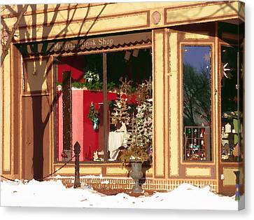 Moravian Book Shop Bethlehem Pa Canvas Print by Jacqueline M Lewis