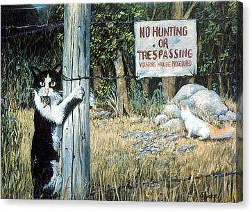Canvas Print featuring the painting More Civil Disobedience by Donna Tucker
