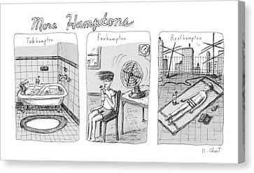 More Hamptons: Canvas Print by Roz Chast