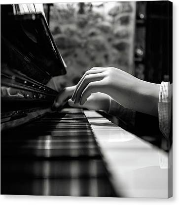 Doll Canvas Print - More Music Please by Marco Antonio Cobo
