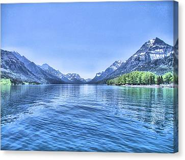 More Shades Of Blue Canvas Print by George Cousins