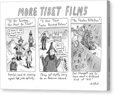 Tibetan Canvas Print - More Tibet Films    If It's Tuesday by Roz Chast