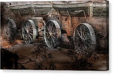 More Wagons East Canvas Print by Gunter Nezhoda