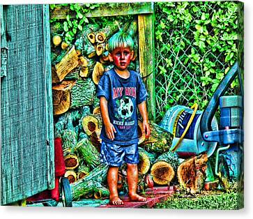 Canvas Print featuring the photograph More Wood Papa...awww by Robert Rhoads